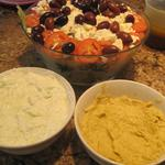 Greek Salad, Tzaziki, and Hummus